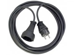 Hosszabítókábel 10 m fekete 3G1,5