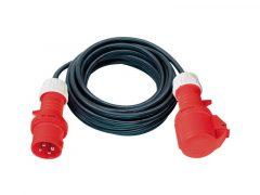 3 Fázisú hosszabítókábel 25 m 400 V, 5 pólus 5G4,0 gumi kábel