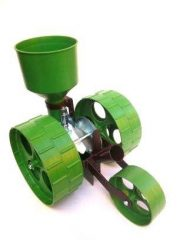 R3 mini farmer rezgőnyelves vetőgép (dupla kerekes, nyéllel)