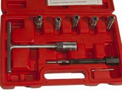 Porlasztócsúcs (injektor) fészekmaró készlet, 8 darabos