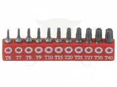 bit készlet, T-torx (külső), 11 darabos