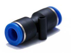 műanyag-levegőcső összekötő (dugaszolható), egyenes, 2x 5mm