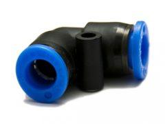 műanyag-levegőcső összekötő (dugaszolható), 90° könyök, 2x 8mm