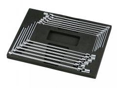 T-kulcs készlet, csuklós, 6-lapos, 12 darabos