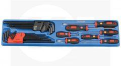 csavarhúzó és L-kulcs készlet, 26 darabos
