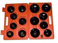 """olajszűrő leszedő dugókulcs készlet, 3/8"""", 15 darabos"""