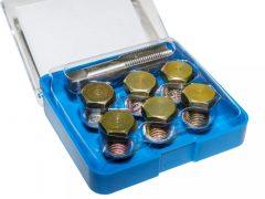 olajleeresztő csavar menetjavító készlet (M13), 13 darabos