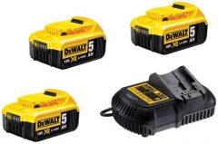 DeWalt DCB115P3 XR10.8-18V Akkumulátor töltő és 3db DCB184 akku szett
