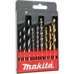 Makita D-08660 fa és fémfúró 9db-os készlet HSS-Tin 5,8,10mm - kőzetfúró 5,6,8mm - fafúró 5,6,8mm