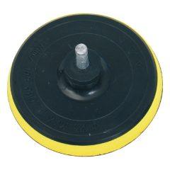 gumitányér  fúrógéphez; 125mm tépőzáras, befogás: 8mm, max. 10.000 ford/perc