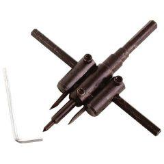 körkivágó gipszkartonhoz, 2db 30-120mm, állítható acélkéssel; (fához, gumihoz, műanyaghoz is használható)