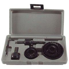 """körkivágó klt. fához (műanyag dobozban) ; 11db, 1"""", 20-65mm"""