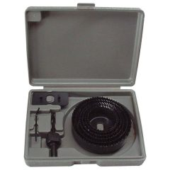 """körkivágó klt. fához (műanyag dobozban) ; 8db, 1"""", 65-130mm"""