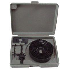 körkivágó klt. fához (műanyag dobozban) ; 8db, mélység: 25mm, 65-130mm