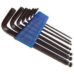 imbuszkulcs klt., gömbfej, bliszteren; 7db, 2,5-10mm