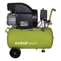 olajos légkompresszor, 1500W, 24l tartály, 8 bar; beszívott:208l/min