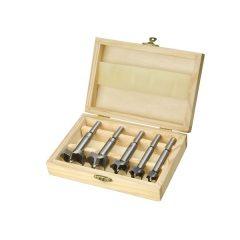 pánthelymaró készlet 5db-os (fadobozban); 15, 20, 25,30,35mm, befogás 8 ill. 9,5 mm