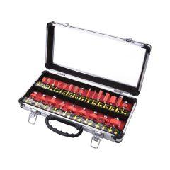 felsőmaró klt.  24db (alu kofferben) ; 8mm-es befogással, keményfém lapkás