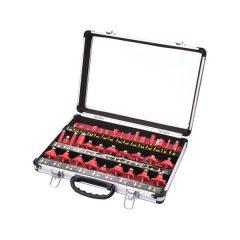 felsőmaró klt.  35db, (alu kofferben) ; 8mm-es befogással, keményfém lapkás