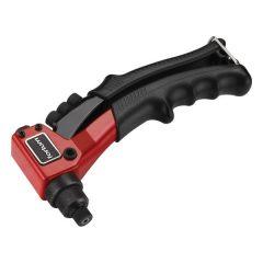 popszegecshúzó fogó, egykezes, ALU, réz, acél, INOX szegecsekhez; 2,4-3,2-4,0-4,8mm, 200mm, CrVMo fej FORTUM