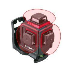 """automatikus lézeres vízszintező, PIROS, 3D (3×360°) pontosság:0,2mm/1m, 1/4"""" és 5/8"""" menet"""