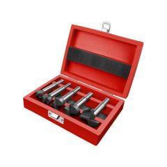 pánthelymaró klt., átm.:15-20-25-30-35 mm, keményfém lapkás, befogás: 8 ill. 10 mm, hosszúság: 85mm, fa dobozban