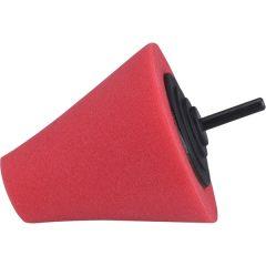 polírozó kúp, finiselő,  T10, 80 mm, tengelycsonk: 6 mm; vörös