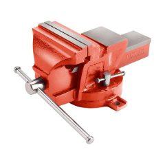 satu forgatható;100 mm, 5 kg, max.befogás:65mm, max. összeszorító erő: 8kN, pofák keménysége: HRC 48-52