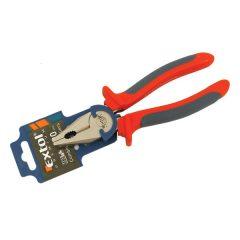 kombinált fogó, 200mm, duál narancs/kék, TPR nyél, akasztós szerszámtartó