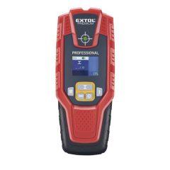 digitális detektor, rejtett fém (vas, réz, alu) és fa tárgyak, illetve feszültség alatti vezeték keresésére, LCD kijelző
