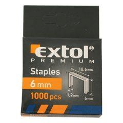 tűzőgépkapocs profi (10,6×0,52×1,2mm) ; 6mm, 1000db