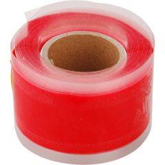 szilikon szalag, 25mm×3,3m, 0,5mm vastag, önvulkanizáló, piros
