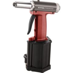 """pneumatikus popszegecshúzó; ALU, réz, acél, INOX szegecsekhez, 2,4-3,2-4,0-4,8mm, 1/4"""" csatlakozó, üzemi nyomás: 4-5 Bar"""
