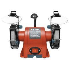 kettős köszörűgép 350W, száraz, 150×12,7×20mm, (P36, P80), 2950 ford/perc, 9kg, lámpával