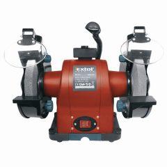 kettős köszörűgép 520W, száraz, 200×16×25mm, (P36, P80), 2950 ford/perc, 19kg, lámpával