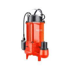 szennyvíz búvárszivattyú, vágókéses, úszókapcsolóval, 1100W, szállító teljesítmény: 18,5 m3/h, max. száll. 16 m