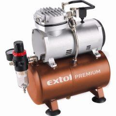 olajmentes légkompresszor, 230V/150W, 6 bar, 23 l/perc, 3l tank, airbrush festéshez is használható