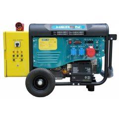 HERON 420 YELLOW +, háromfázisú, 6 kVA-es, vészhelyzeti áramfejlesztő; kommunikációs egységgel