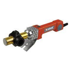 műanyagcső hegesztő gép, 800W, PTW 90, cserélhető fejek:16-20-25-32mm, 0-260°C