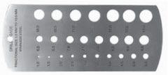 MIB Furatmérő sablon, 1-13 mm, (08082009)
