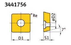 SNMG120408 HM váltólapkák (5 db.)