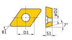 Váltólapka készlet ISO DCMT070204 (5 db-os)