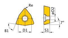Váltólapka készlet ISO WCMT050308 (5 db-os)