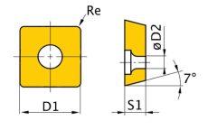 Váltólapka ISO SCMT060204
