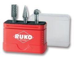 Ruko turbómaró készlet keményfém, 3 részes, HM miniboxban 116001