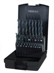 Ruko Terrax csigafúró készletetek, DIN 338 N típus HSS-R, 19 vagy 25 részes