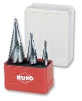 RUKO lépcsősfúró készlet 4-30 mm HSS 3 részes A101032