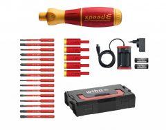 Wiha 590 T103 Speed-E Elektromos, 25 Részes Csavarhúzó Készlet, 1000 V Szigetelt